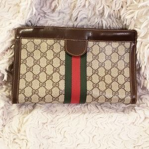 GUCCI PARFUMS Vintage Clutch Cosmetic Travel Bag